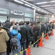 『モンスターハンターポータブル3rd』発売に長蛇の列! アキバヨドバシは店を半周以上する列ができる