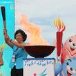 韓国・仁川アジア大会の聖火、中国山東省でリレー