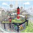 花やしきに新アトラクション、既存遊技施設の上に人工地盤作り設置。