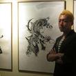 『戦国BASARA』特別展イベント、墨絵アーティスト西元祐貴氏ライブパフォーマンスの模様をリポート