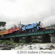 トーマス号とジェームス号が営業運転初の「重連運転」、大井川鐵道で。