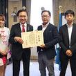 「『黒い砂漠』×動物保護プロジェクト」で神奈川県がゲームオンに感謝状。神奈川県庁で行われた贈呈式の模様をレポート