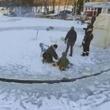 """冬ならではの自作アトラクション""""氷のメリーゴーラウンド""""が楽しそう"""