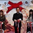 ボタンを押すと明日菜のスカートが…赤松健原画展、佐藤利奈&高倉有加もお祝い
