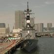 【東京みなと祭2017】護衛艦いかづち一日艦長として山口立花子と小松美咲が就任