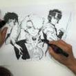 スプリガン、ARMS、海王ダンテのヒーロー集結!皆川亮二のドローイング動画