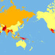 世界で一番危ない国は…リスク別に色分けされた世界地図が便利