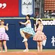 フレンチ・キス倉持明日香、2年ぶり始球式はワンバウンド