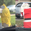 仮装する「マナティーの郵便受け」にご近所さんが興味津々