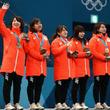 平昌オリンピック − 【写真】日本カーリング女子 銅メダル獲得