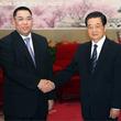 胡錦濤主席、崔世安マカオ特別行政区長官と会見