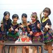 宇宙初エアギターアイドル・テレパシー 名倉七海の生誕祭を巨大たこ焼きケーキで祝福!