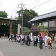 らき☆すたの聖地、鷲宮神社で誕生パーティ