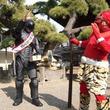 節分にロボコップ豆まき鬼退治、柴又帝釈天で日本の安全と平和を祈る。