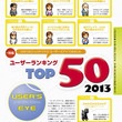 【先出し週刊ファミ通】2013年発売タイトルのユーザーランキングTOP50を掲載!(2014年3月6日発売号)