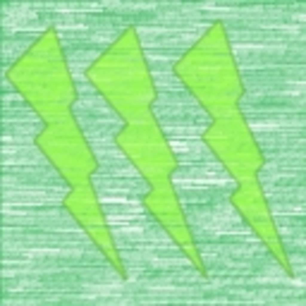 グリーンの緑にニコニコ
