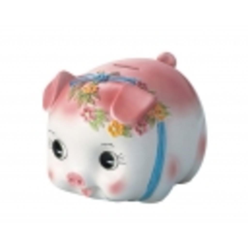 ピンクのぶたさん貯金箱