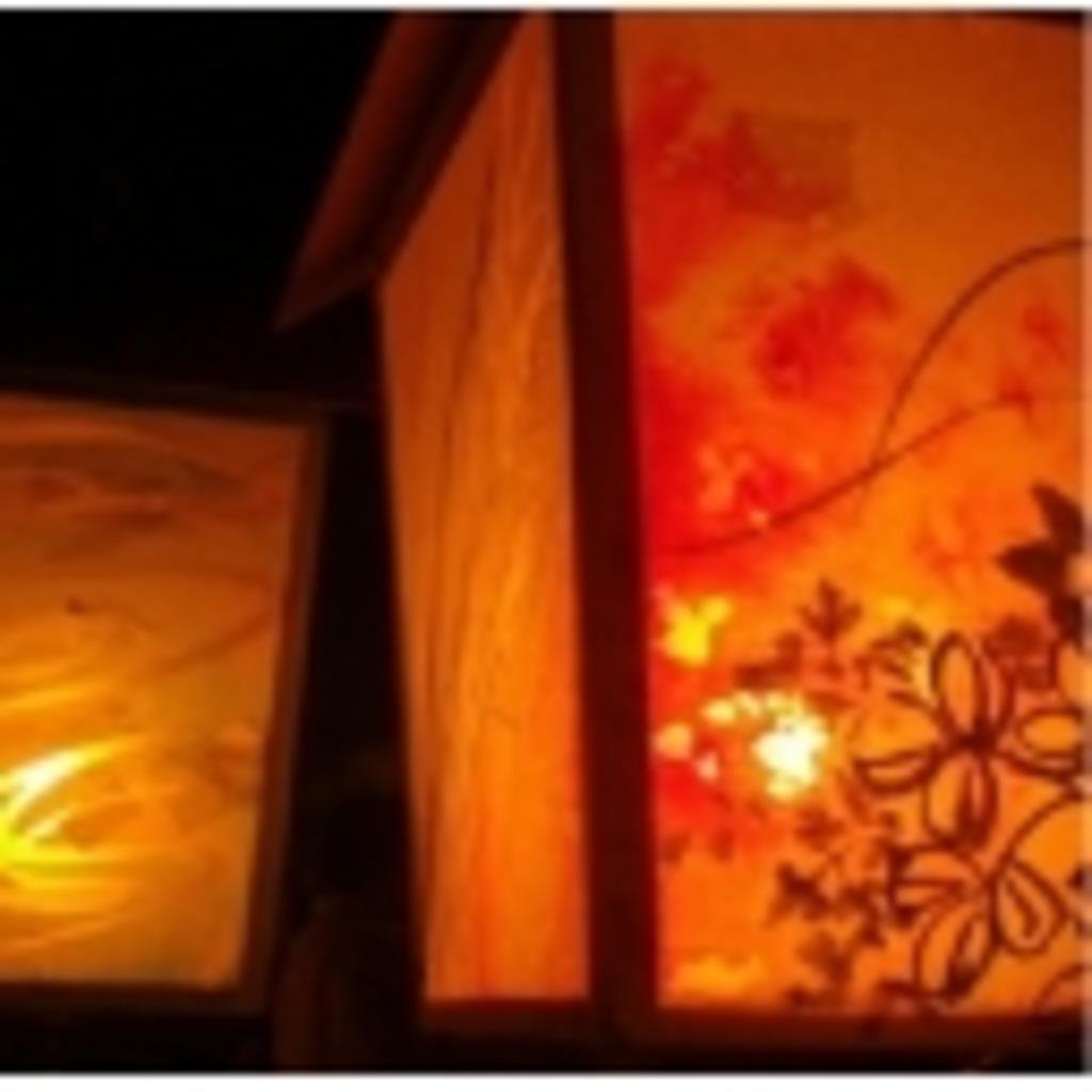 灯篭のある屋敷にて