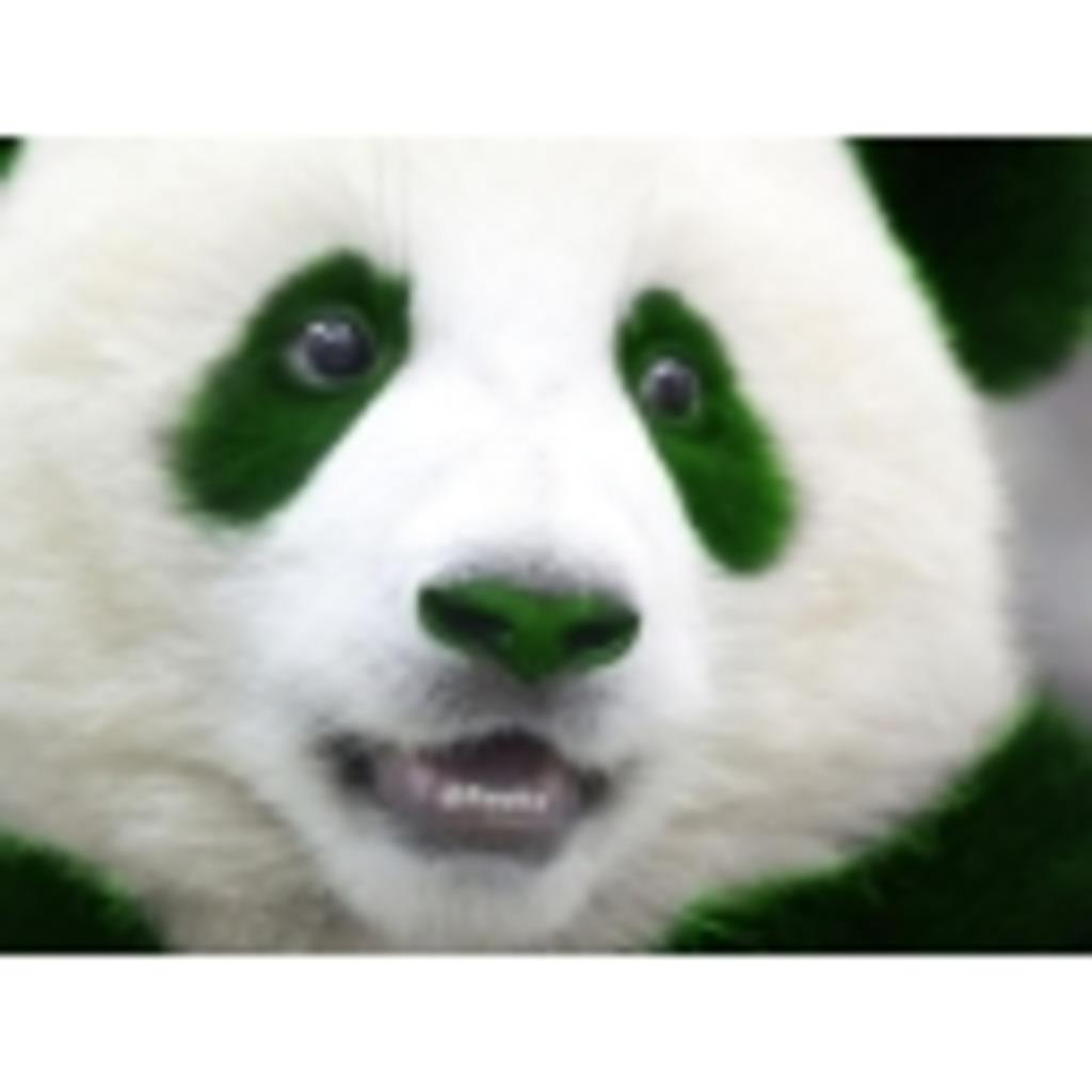 緑色のパンダのぬるっとお喋り