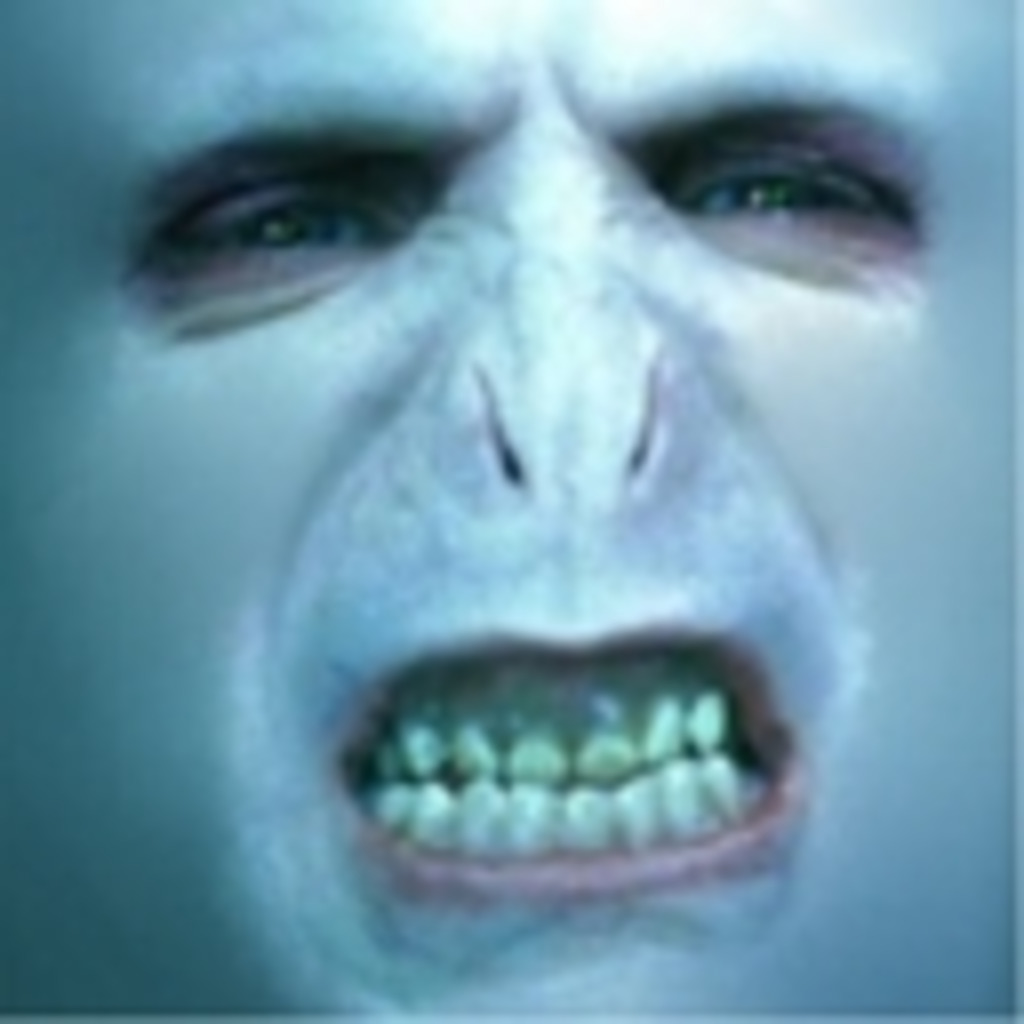 親に「あんた顔がヴォルデモートに似てるね」と言われました