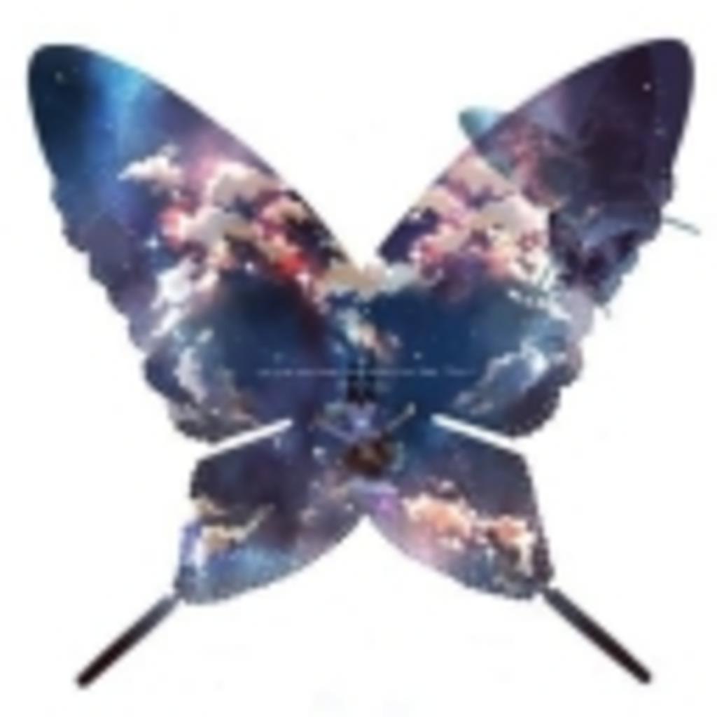 蝶が舞う部屋