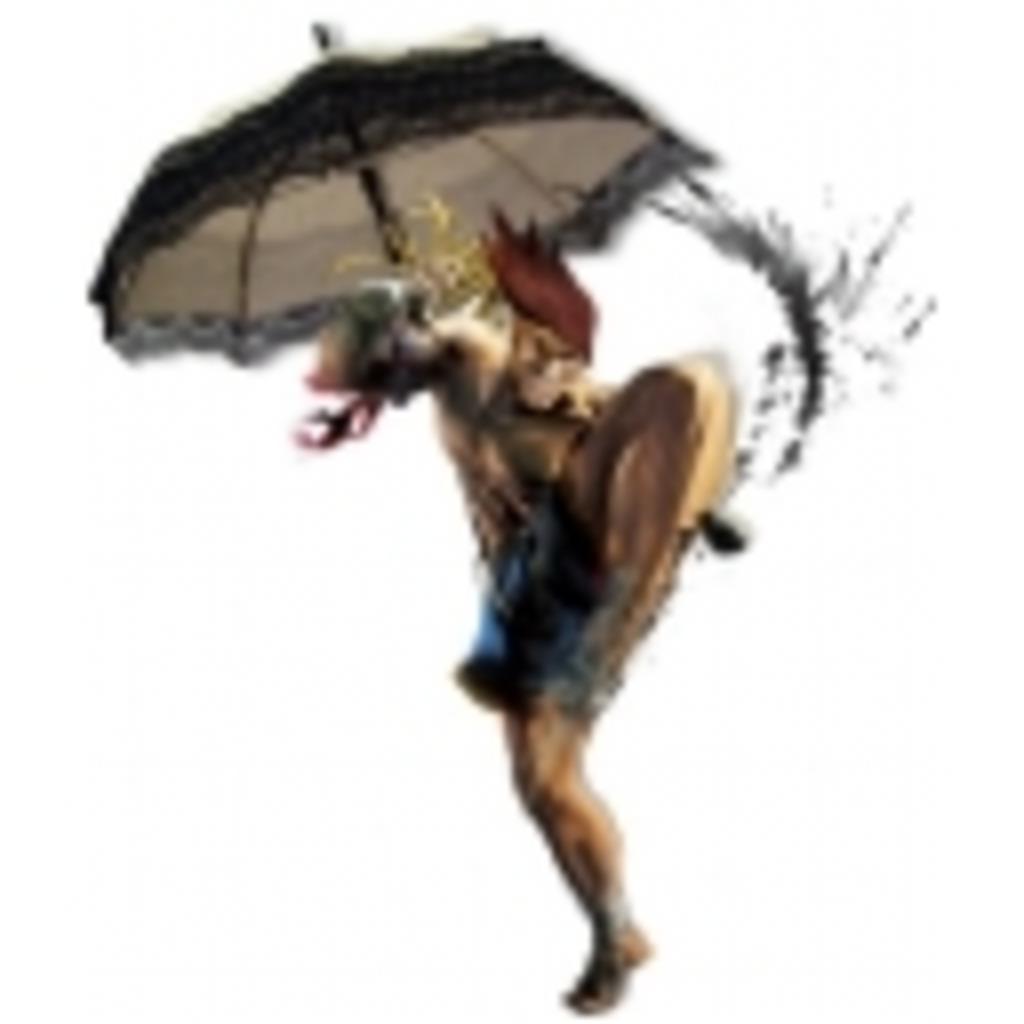 日傘を差しながらゲーム実況