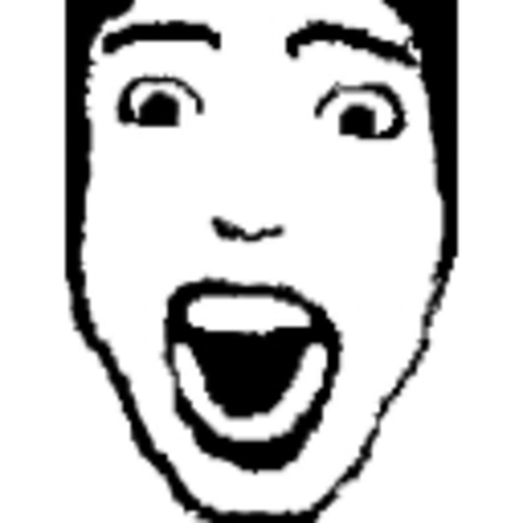 とびだせ メイニアの顔(3D)