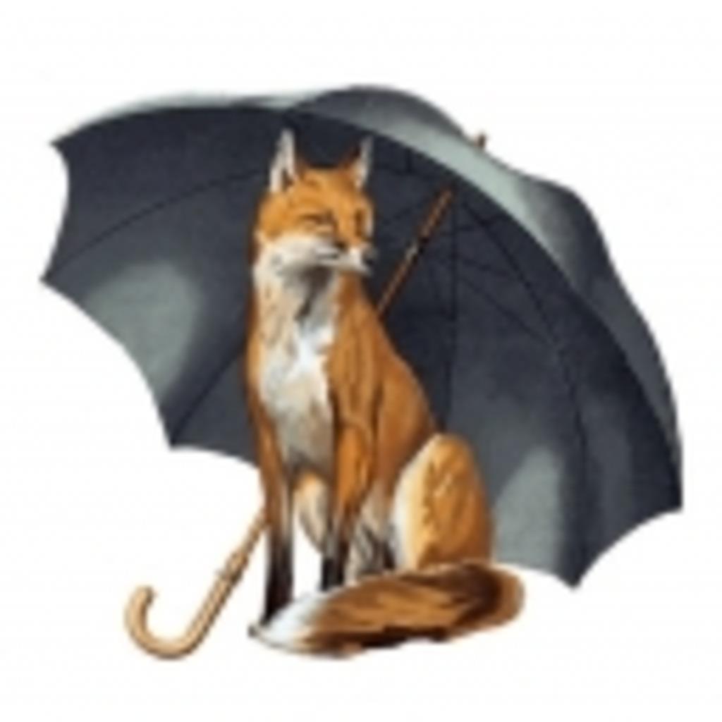 狐の雨宿り。☂
