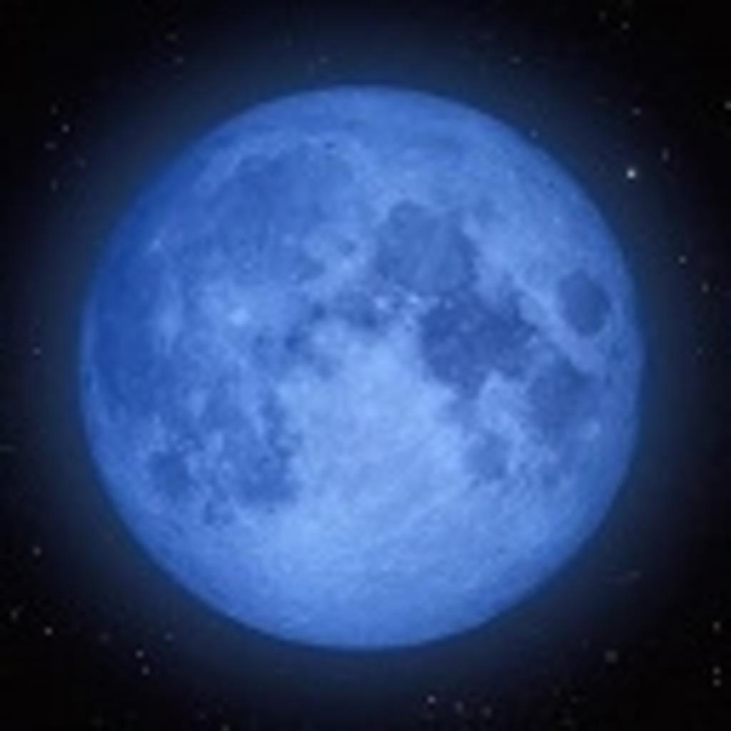 ☽月光浴☽ 碧い月の夜に… ☁○☁ 月の満ち欠け