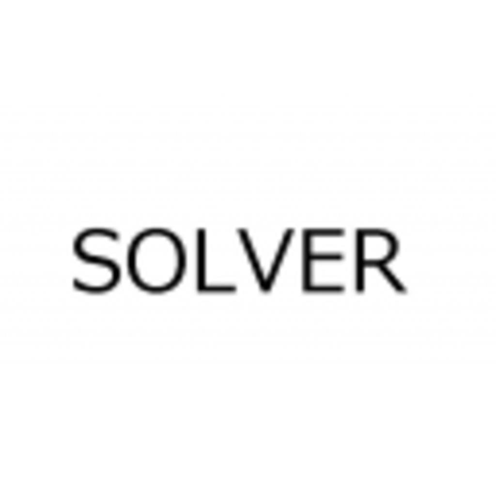 ソルバーという名の何か