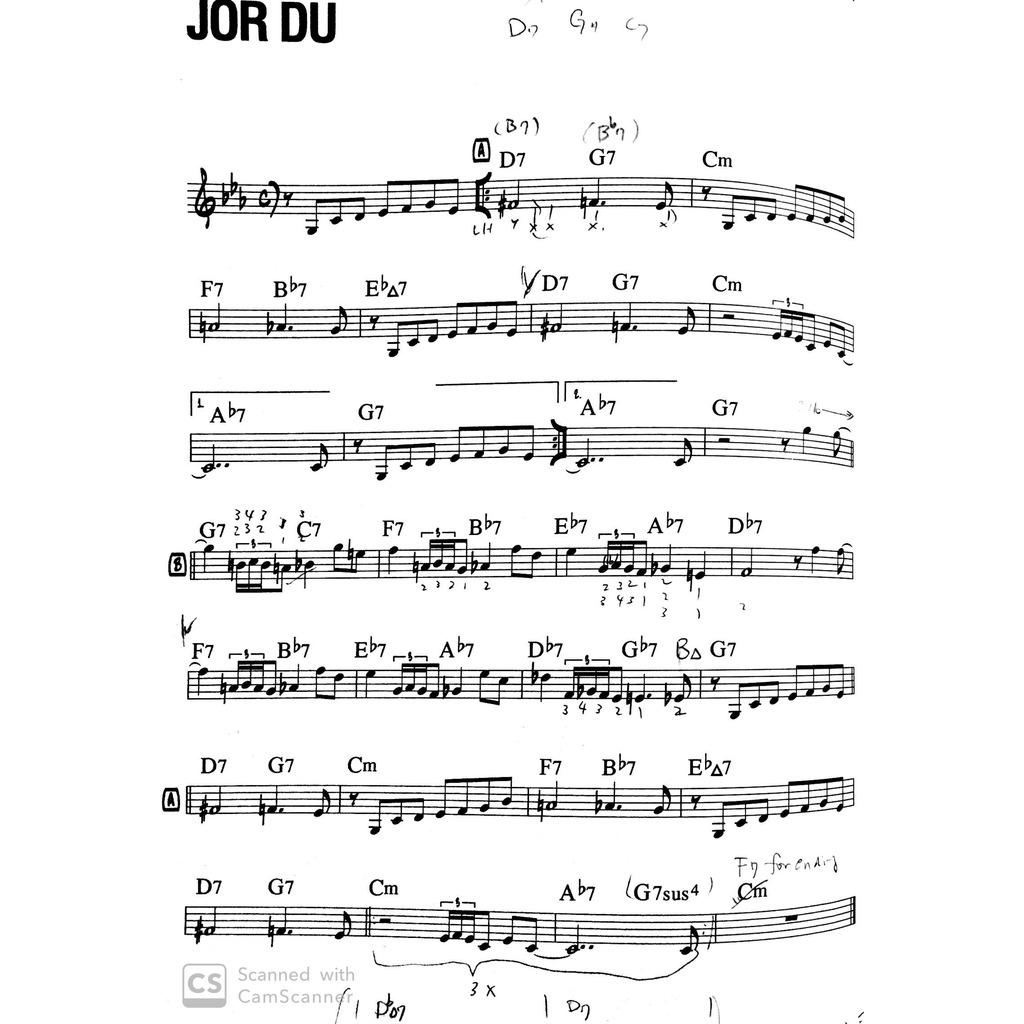 ジャズピアノの練習風景