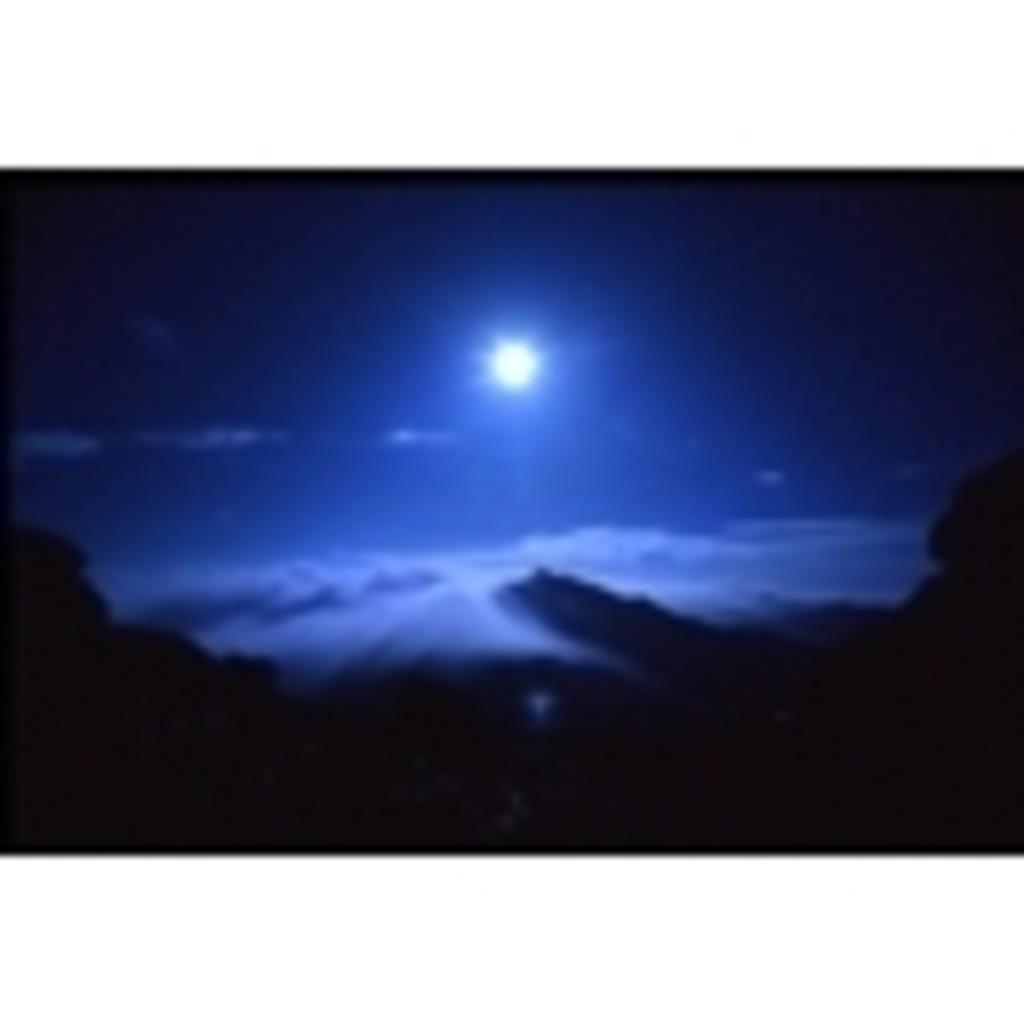 青き月が輝く夜