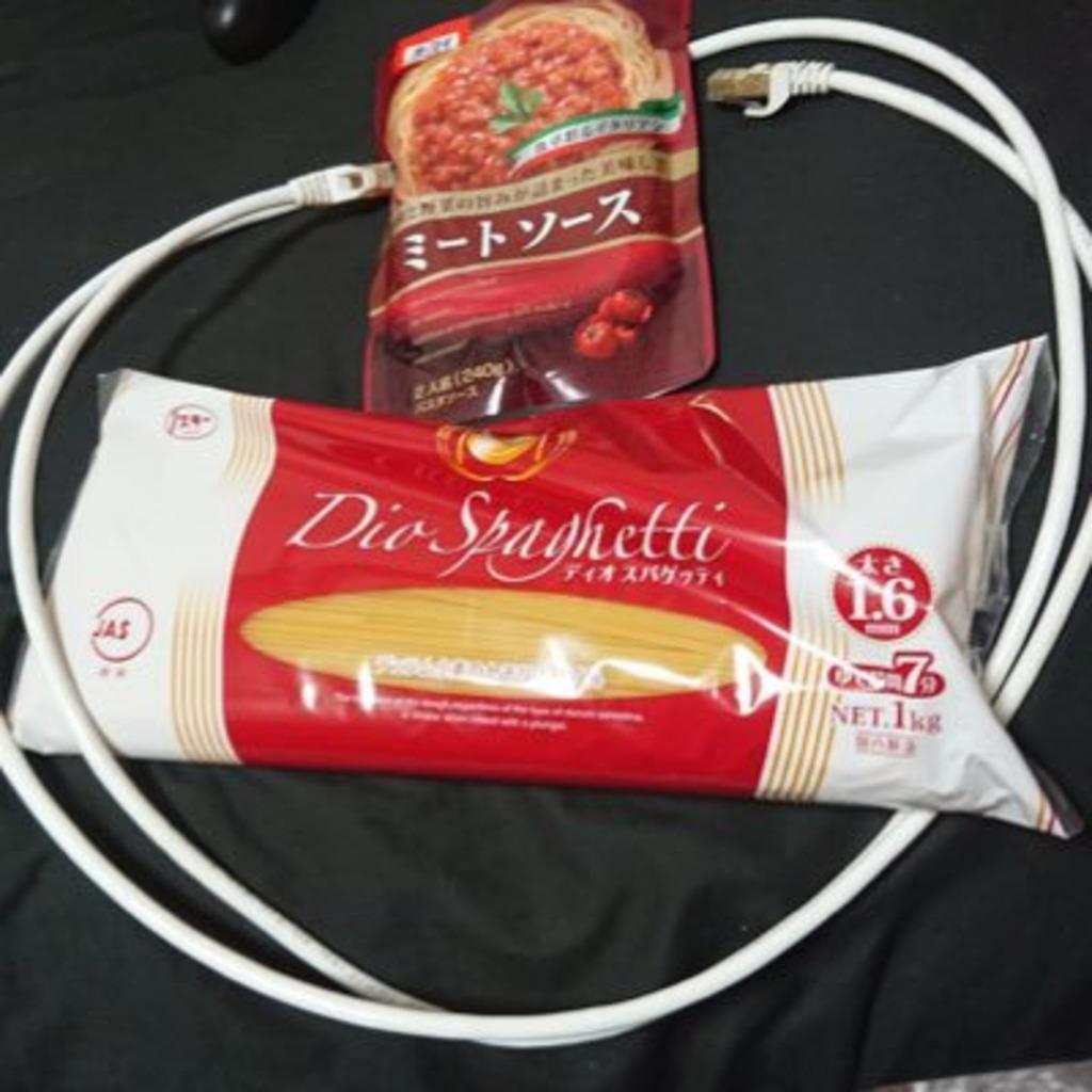 LANケーブルトマトスパゲッティ