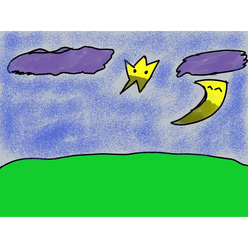 雨夜夜空の隠れ家