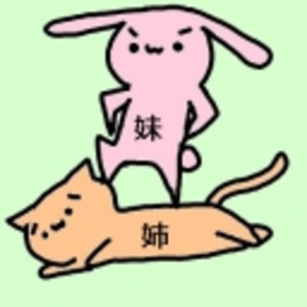 (姉´・ω・`)人(`・ω・´妹)