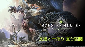 『【モンスターハンター:ワールド】友達と一狩り 夏合宿3』のサムネイルの背景