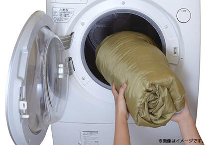 洗濯機で丸洗いできるので、 いつでも清潔に保てる。※写真はイメージです。