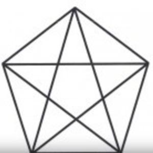天才クイズ】この5角形の中に三...