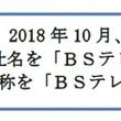 BSジャパンは「BSテレ東」になります!