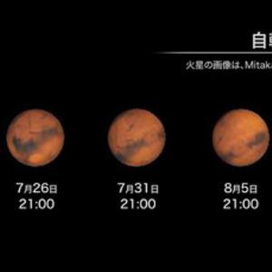 火星が15年ぶりの「大接近」 7月...