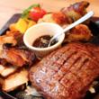 【高コスパ】1ポンドステーキ+サラダ・低糖質デザートビュッフェの超得ランチで大満足!