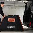 エアー緩衝材、台座、キャスター付き自転車輪行バッグ「トラベロ AIR」発売