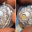 聖杯伝説!?鎧の騎士が持つ剣を抜いて別の場所に差し込むと..ロシアの彫刻師が手掛けた仕掛けコインがすごい!