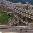 【動画】世界で最も複雑な高速道路のインターチェンジ まるでフジヤマ