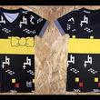 沖縄県北中城村(きたなかぐすくそん)「ふるさと納税」お礼品に『沖縄を愛する人の必須アイテム!子供用エイサー柄Tシャツ【カスリ柄・黒】』を新たに追加いたしました
