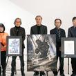 「ラフ∞絵」発表会で天野喜孝が描くガンダムや大河原邦男の両さんお披露目