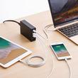 スマートフォン、タブレットに加えてノートパソコンを一度に充電できるUSB PD(Power Delivery)対応AC充電器を発売。