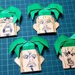"""『ジョジョ 第5部』暗殺チームの""""真に恐ろしい男""""ペッシを折り紙で再現。絵心のない場合も作れる、顔の描き方の解説付き!"""