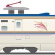上越新幹線限定デザインのE7系運行へ 「朱鷺色」のライン、マークを追加