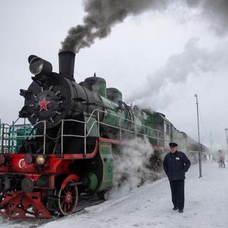 ロシアで昔の蒸気機関車が復活